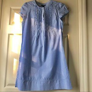 Gap Blue and White Striped Dress